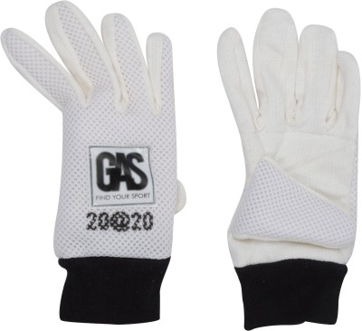 GAS 20-20 BATTING Batting Gloves (Free Size, White)
