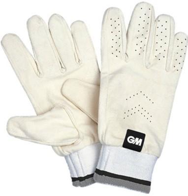GM Full Chamios Batting Gloves (Men, White)