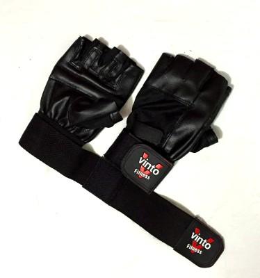 Vinto Better Bodies Basic Gym & Fitness Gloves (Free Size, Black)