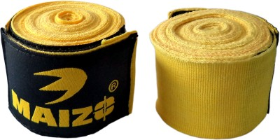 Maizo Stretchable 108 Inches Hand Wraps Boxing Gloves (M, Yellow)