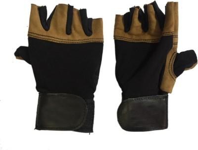 CP Bigbasket Sweat leather brown & black Gym & Fitness Gloves (Free Size, Brown, Black)