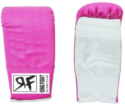 Ring Fight Punching Gloves Boxing Gloves (L, Pink, White)