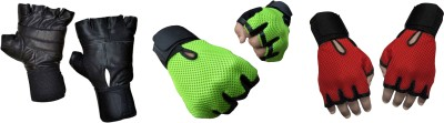 Jack & Ginni Fitness Gloves . . Gym & Fitness Gloves (Free Size, Black, Green, Red)