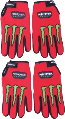Belmarsh Monster Riding Gloves (Free Size, Red)