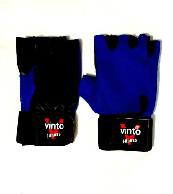 Vinto Body Building Weight Lifting Gym & Fitness Gloves (Free Size, Blue)
