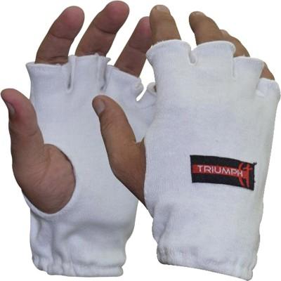 Triumph Batting Batting Gloves (Free Size, White)