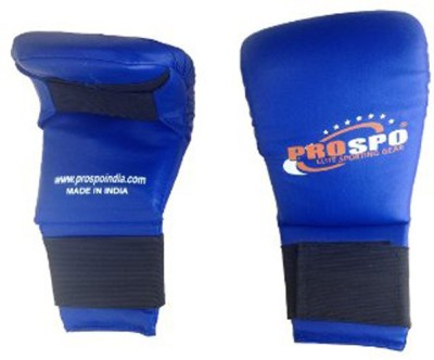 PROSPO karate gloves Martial Art Gloves (L, Blue)