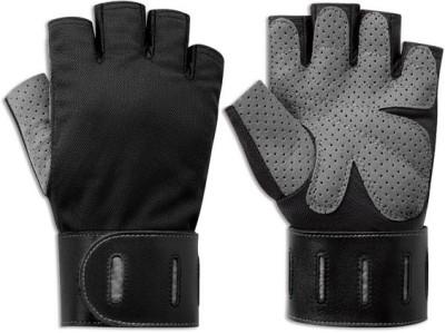 Body Sculpture Aerobic BW-88XL-B Gym & Fitness Gloves (XL, Black, Grey)