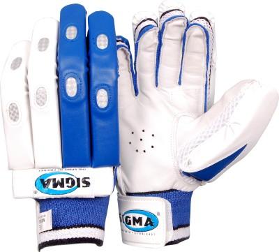 Sigma Platinum Batting Gloves (M, White)
