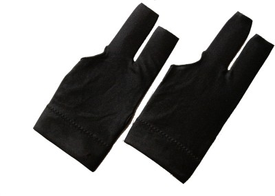 Billiedge Black Nail Cut (PACK OF 2) Gym & Fitness Gloves (Free Size, Black)