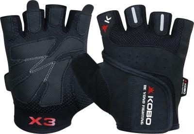 Kobo Grippy Gym & Fitness Gloves (S, Black)