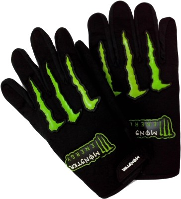 Monster Comfort Driving Driving Gloves (XL, Black, Green)