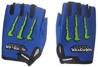 Casttle Monster Blue Riding Gloves (L, Blue)
