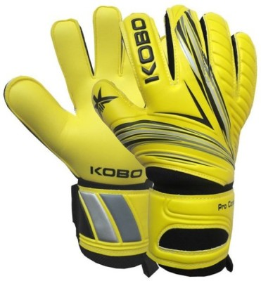 Kobo Pro Contact Goalkeeping Gloves (M, Yellow)