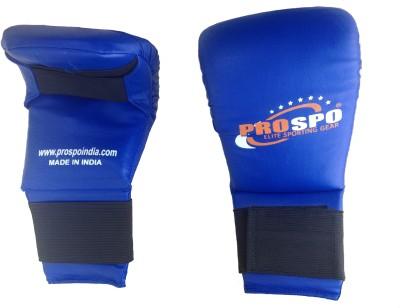 Prospo Synthetic Boxing Gloves (L, Blue)