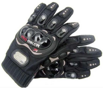 Pro Biker Bike Racing Motorcycle Riding Gloves Black Color Riding Gloves (XL, Black)