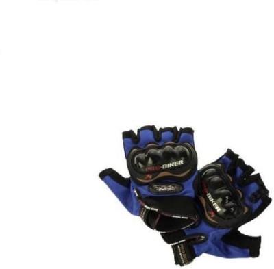 MR Trading Pro Biker Driving Gloves (XL, Blue)