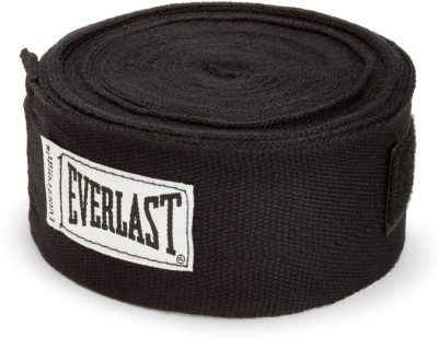 Everlast 180 inch Hand Wraps Boxing Gloves (M, Black)