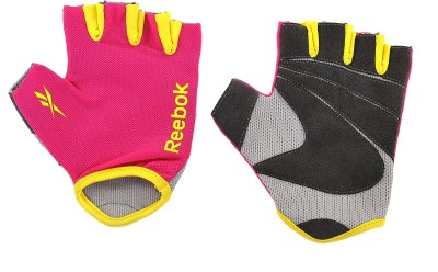 Reebok RAGL 11132MG Gym & Fitness Gloves (S, Pink, Yellow)