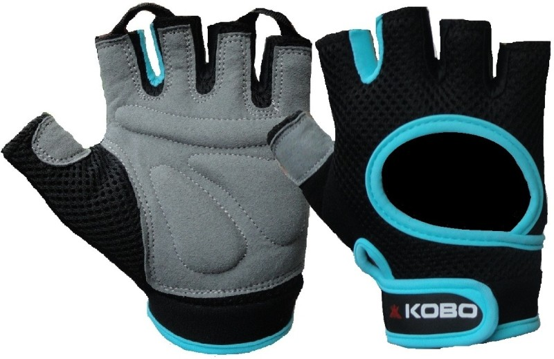 Kobo Weight Lifting (Imported) Gym & Fitness Gloves (M, Blue)