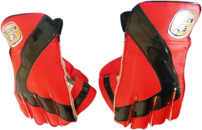 Turbo CENTURY (Ping-Pong) Wicket Keeping Gloves (Youth, Red, Black)