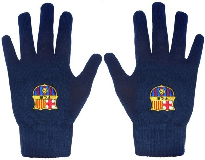 Nike FCB SUPPORTER KNITTED (S/M) Gym & Fitness Gloves (S, Blue, White)