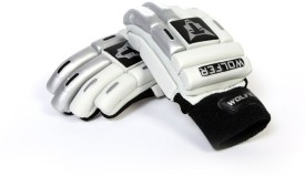 Wolfer Feather Weight (Right Hand) Batting Gloves (Youth, Silver, White)