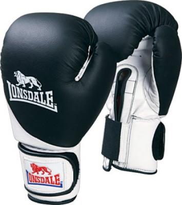 Lonsdale Pro Safe Boxing Gloves (Size-18, Black, White)