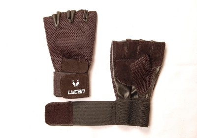 lycan Active Gym & Fitness Gloves (Free Size, Black)