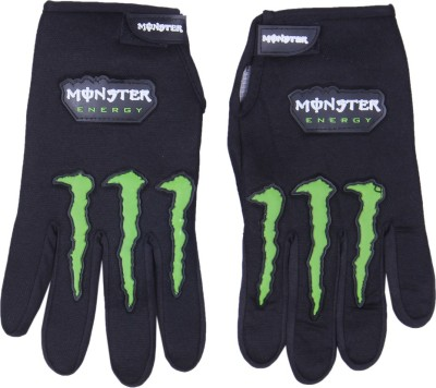 Monster Pro Riding Gloves (Free Size, Black)