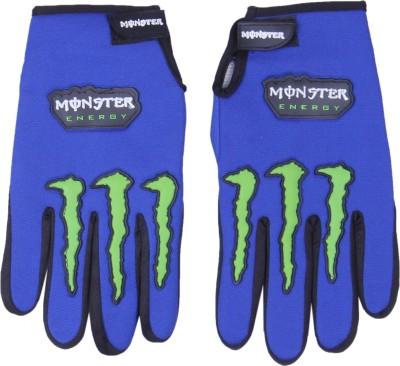 Monster Monster Riding Gloves (Free Size, Blue)