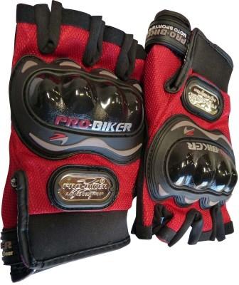 Pro Biker Bike Racing Motorcycle Riding Gloves (XL, Red)