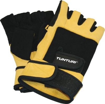 Tunturi Fitness high impact Gym & Fitness Gloves (XL, Black, Yellow)