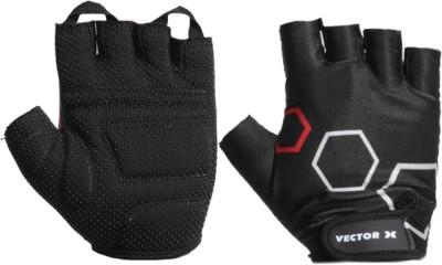 Vector X VX-300 Hexagon Gym & Fitness Gloves (XL, Black)