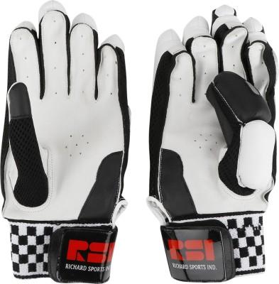 Richard Test Batting Gloves (Men, Black, White)