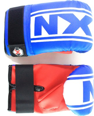 RXN Punching Boxing Gloves (L, Blue, Red)