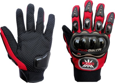 Pro Biker Full Finger Cycling Gloves (XL, Red)