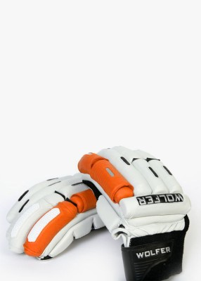 Wolfer Player Edition (Left Hand) Batting Gloves (Men, Orange, White)