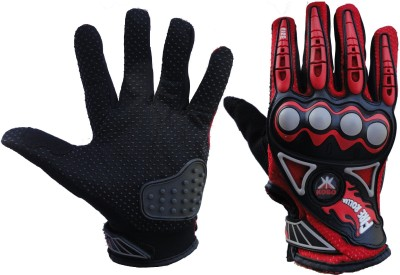 Pro Biker 3805 Cycling Gloves (M, Black, Red)