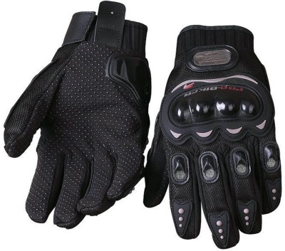 AutoKraftZ PRO BIKER RIDING DRIVING GLOVES Driving Gloves (Free Size, Black)