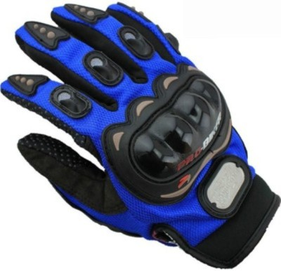 Pro Biker L Blue Riding Gloves Riding Gloves (L, Blue)