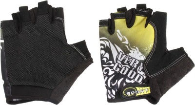 Info Fitness Cycling Gloves (Free Size, Black, Yellow)
