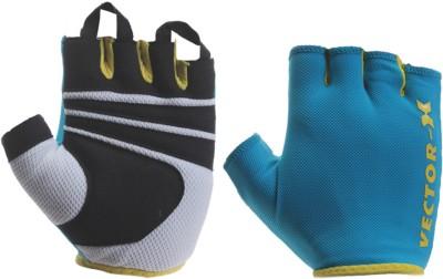 Vector X VX-450 Gym & Fitness Gloves (M, Blue)