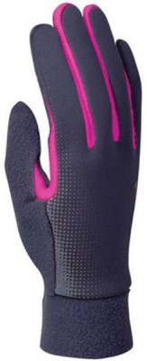 Nike WOMENS TECH THERMAL Running Gloves (L, Grey, Pink)