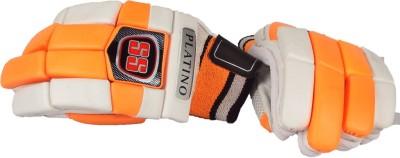 SS Platino Batting Gloves (Men, White, Orange)