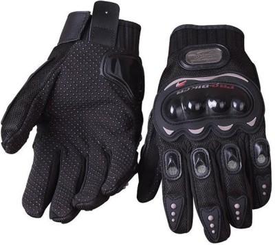Pro Biker Bike Racing Riding Gloves (L, Black)