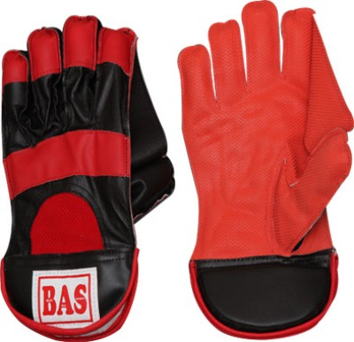 BAS Vampire Megalite Wicket Keeping Gloves (L, Red, Black)