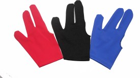 Billiedge Combo OF Black,Blue & Red Billiard Gloves (Free Size, Black, Blue, Red)