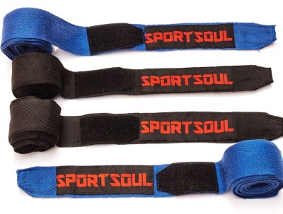 SportSoul Cotton Boxing Gloves (Men, Blue, Black)