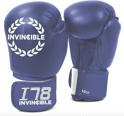 Invincible Training Boxing Gloves (Men, Blue)